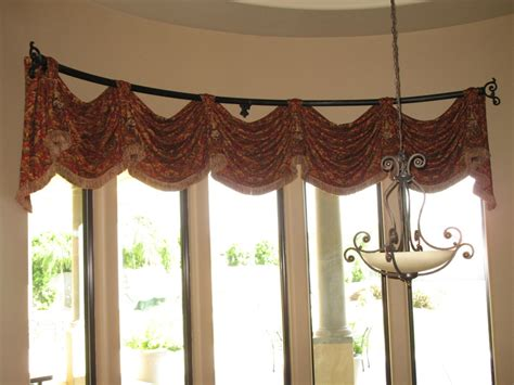 bow window curtains ideas bow window treatments and how curved valance google search curtains pinterest