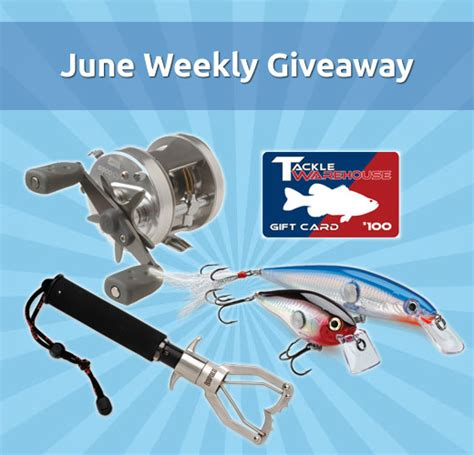 Fishing Gear Giveaway - june weekly fishing gear giveaway