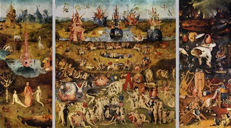 hieronymus bosch garden of triptych of garden of earthly delights by bosch hieronymus
