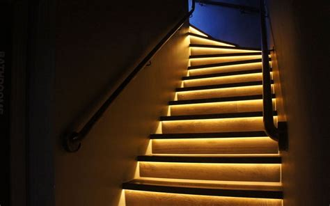 stair lighting led led light design dramatic look led stair lighting