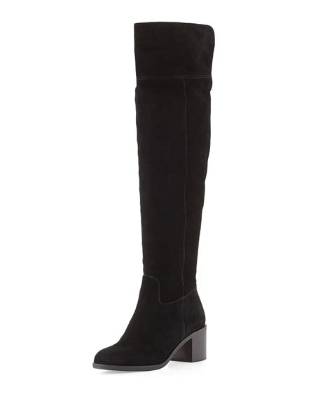 michael michael kors paulette sport suede the knee