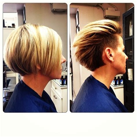 bob hairstyles behind the ears undercut the ear and bobs on pinterest
