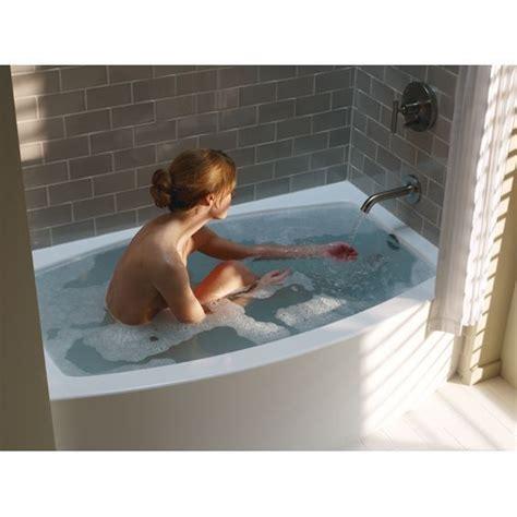 soak in bathtub kohler k 1118 la 0 expanse 5 ft alcove curved apron front
