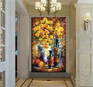 canvas painting for home decoration 100 hand painted lovely flower palette knife oil painting on canvas for living room decoration