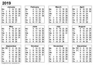 Calendar 2018 And 2019 Printable Free Printable Calendars And Planners 2018 2019 2020