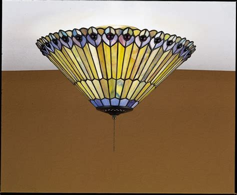 Peacock Ceiling Light by Meyda 27438 Glass Stained Glass