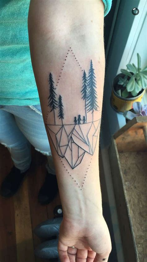 watercolor tattoo vancouver bc geometric landscape by dong vancouver bc
