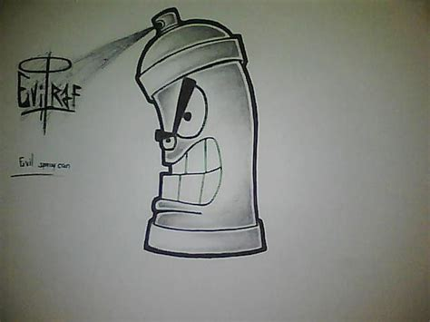 Sketches I Can Draw by Graffiti Spray Can Drawing Easy тo ĸnow