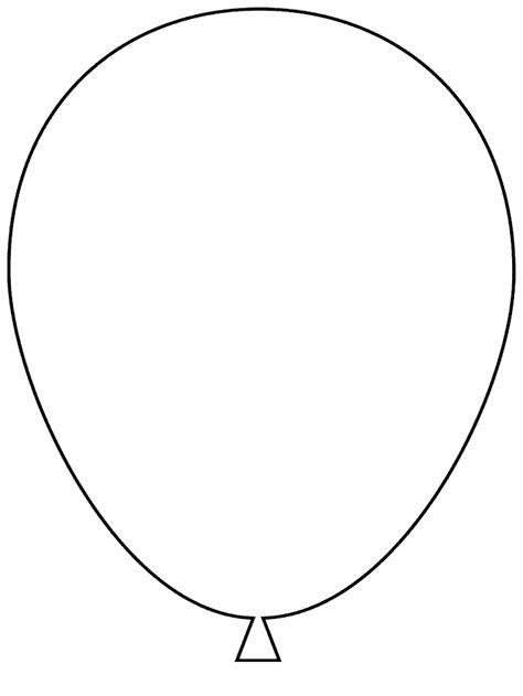 balloon simple shapes coloring pages coloring book