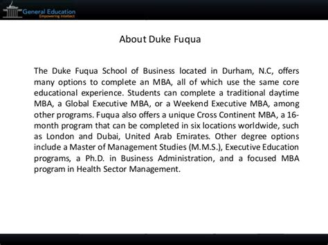 Fuqua Mba Essay Questions by Duke Fuqua 2015 Mba Sle Essays Tips And Deadlines