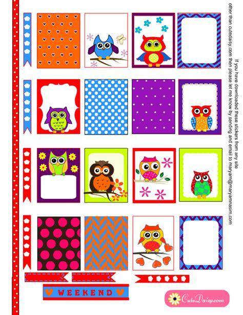 printable owl stickers pinterest the world s catalog of ideas