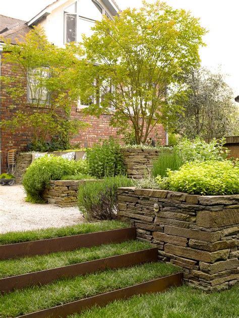 Garten Ebenen Gestalten by Garten Hang Gestalten Hanglage Treppen Bepflanzung Stein