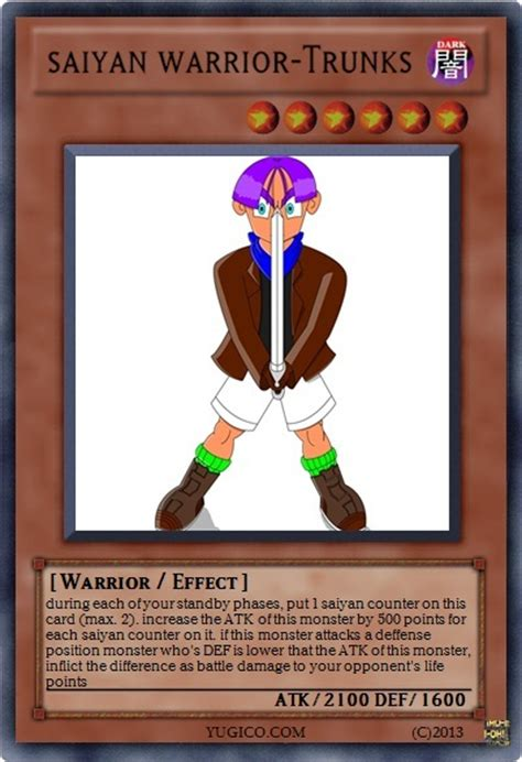 Free Yugioh Cards Giveaway - trunks yugioh card by diego toon master on deviantart