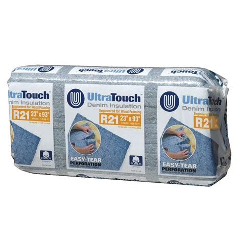 ultratouch 23 in x 93 in r21 denim insulation 8 bags