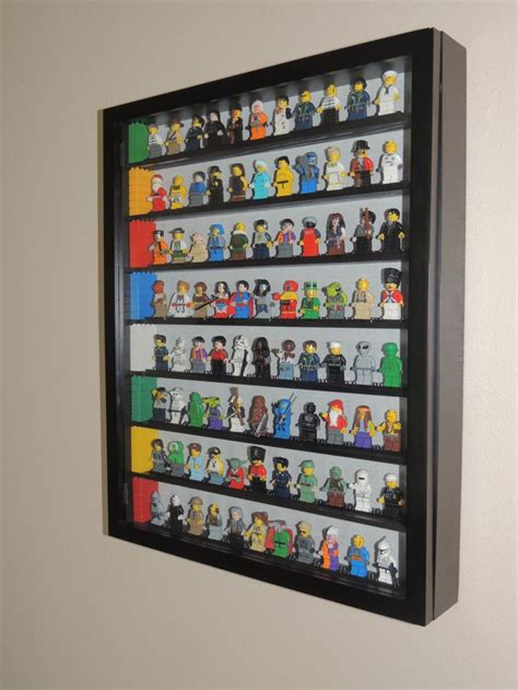lego display on pinterest lego display shelf lego room lego minifigure storage shadow box with painted shelves