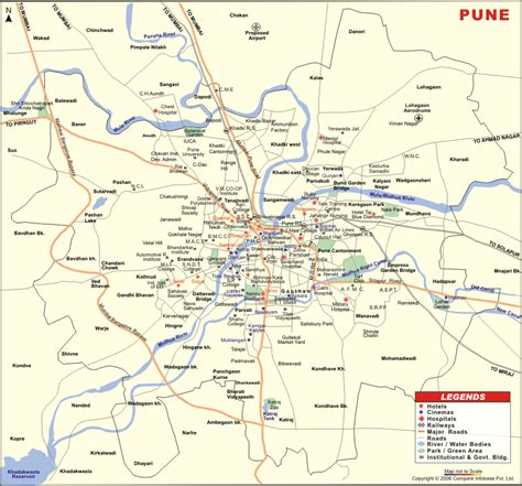 city map of pune pune district junglekey in image