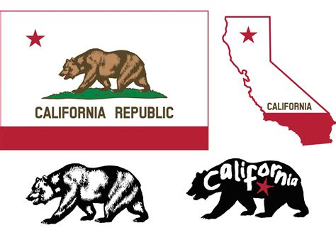 california bear flag vectors download free vector art