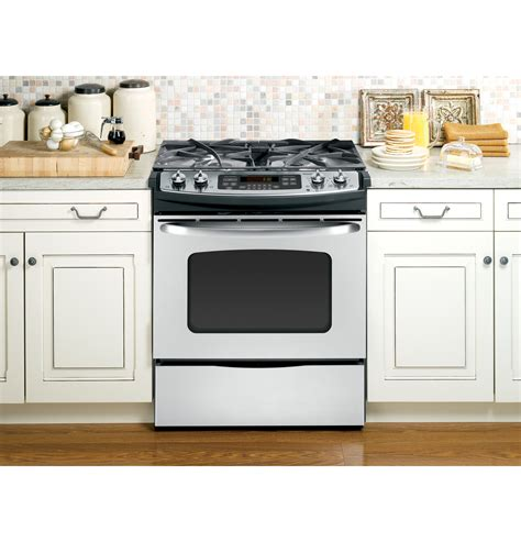 slide in range ge 174 30 quot slide in gas range jgsp42setss ge appliances