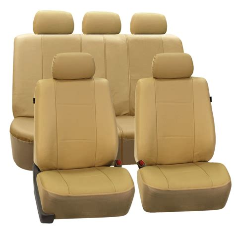 split bench seat cover deluxe leatherette full set auto seat covers air bag safe split bench ready ebay