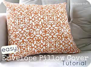 Envelope Cushion Tutorial Easy Envelope Pillow Cover Tutorial Six Sisters Stuff