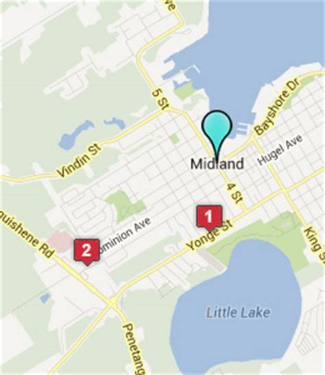 midland on map midland ontario hotels motels see all discounts