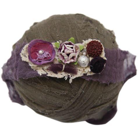 Handmade Photo Props - custom photo props purples floral handmade newborn 1243