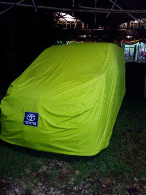 Cover Mantroll Mobil Toyota Sienta Abu Hijau jual harga cover mobil jazz yaris brio agya ayla datsun karimun getz picant pinassotte