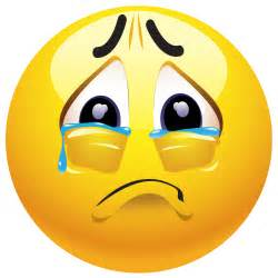 Crying smiley face clipart clipart kid