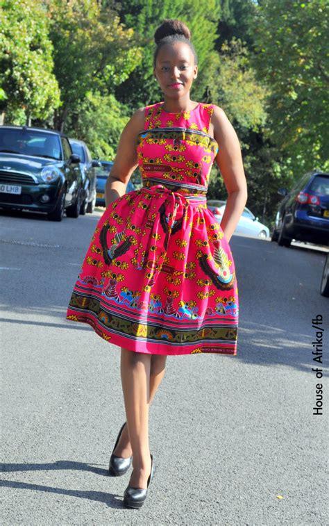 bintu dress with same fabric belt