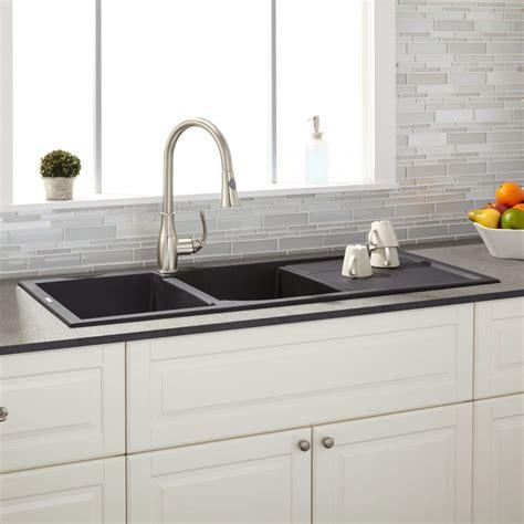 cool kitchen sinks other kitchen double drop in granite kitchen sink black