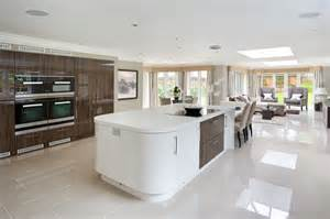 the kitchen clearly defined immense curved white island gorgeous designs with islands designing idea