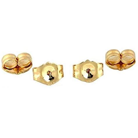 4 14k yellow gold earring backs ear post nuts deluxe in