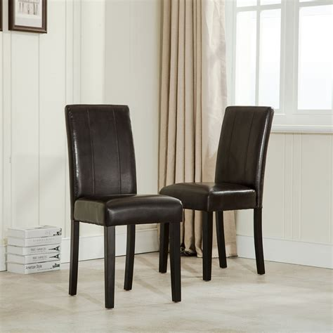Elegant Modern Parsons Chair Leather Dining Living Room Dining Room Parsons Chairs