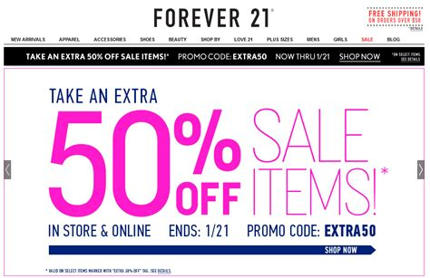 Forever 21s 21 Daily Specials by Forever 21 Coupon November 2018 Cyber Monday Deals On