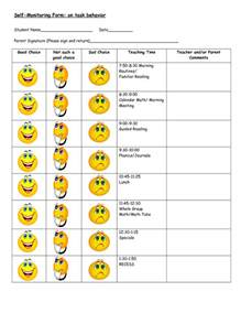 Behavior Plan Template For Elementary Students by Behavior Charts Printable For Activity Shelter