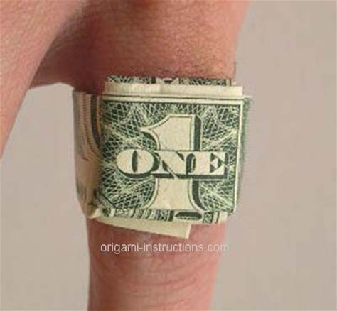 Dollar Bill Origami Ring - origami dollar bill ring origami