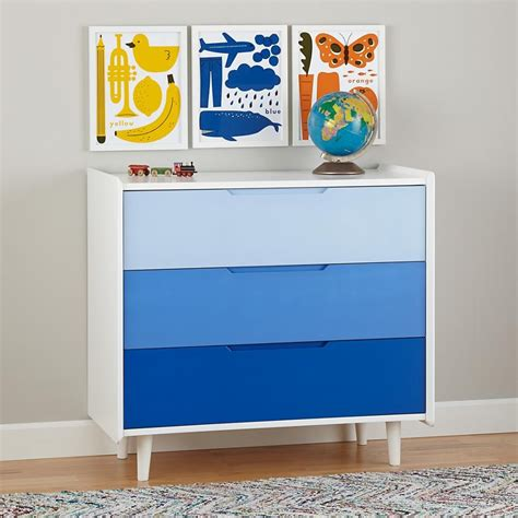 Blue Childrens Dresser by The In Furniture Textiles And Decor