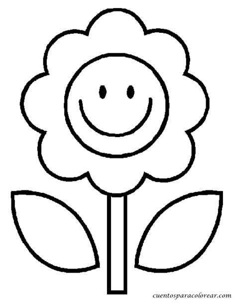 dibujos infantiles para colorear de flores dibujos para colorear flores