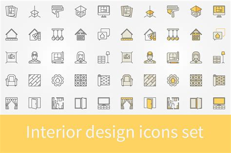 design icon kandivali east interior design icons set icons creative market