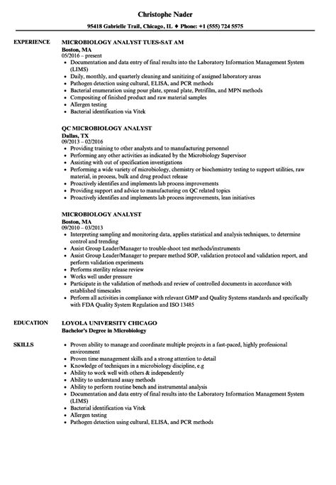 microbiology resume sles experience certificate sle for microbiologist gallery