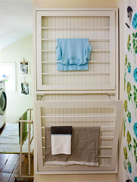 Fold Out Drying Rack by Add Fold Out Drying Racks To A Wall To Save Space While