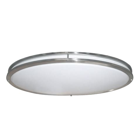 escape ii 60 in led brushed nickel ceiling fan envirolite 32 in brushed nickel white low profile led