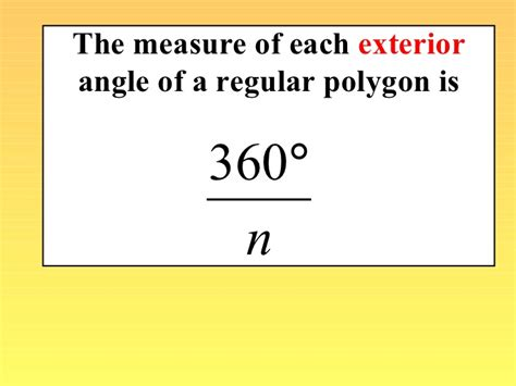 What Is The Measure Of One Interior Angle by Interior And Exterior Angles Of A Polygon Worksheet