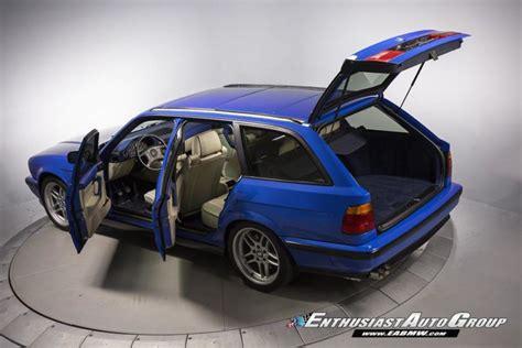 bmw e34 m5 blue stunning santorini blue e34 bmw m5 touring is expensive