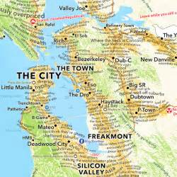 san francisco bay area map according to dictionary boing boing