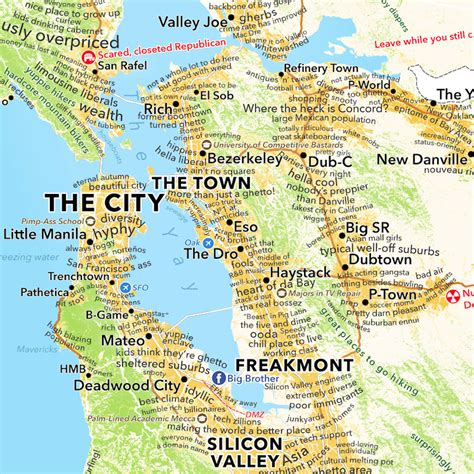map of bay area san francisco bay area map according to dictionary boing boing