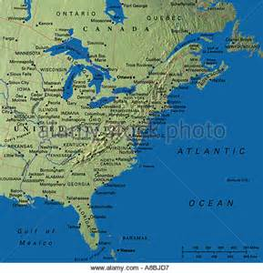 us east coast bathymetric map road map of eastern united states road map of eastern
