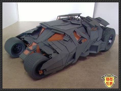Batmobile Papercraft - new paper craft batman begins tumbler free papercraft