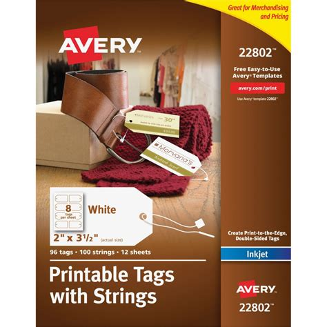 avery printable id cards avery printable tags with strings