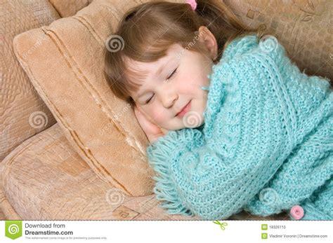 little girls sofa the little girl sleeps on a sofa stock photo image 18326110